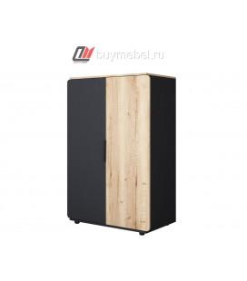 Дельта-Лофт 13.01 шкаф для одежды цвет Чёрный / Ирландский дуб