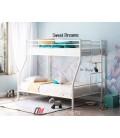 buymebel.ru двухъярусная кровать Гранада-3 слоновая кость лестница справа