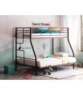 buymebel.ru двухъярусная кровать Гранада-3 140 коричневая лестница слева