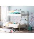 buymebel.ru двухъярусная кровать Гранада-3 140 слоновая кость лестница справа