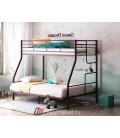buymebel.ru двухъярусная кровать Гранада-3 140 коричневая лестница справа