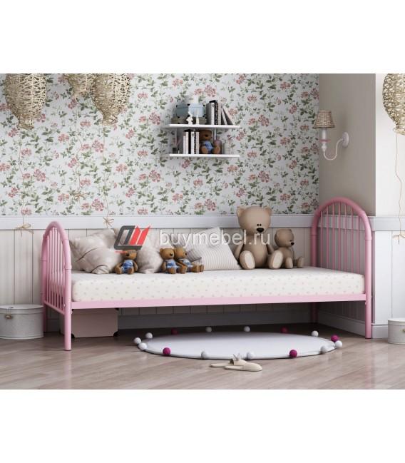buymebel.ru металлическая кровать Эвора-1 розовая
