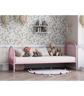 металлическая кровать Эвора-1 розовая