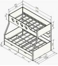 buymebel.ru двухъярусная кровать Дельта 20.02