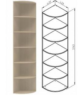 ДЕЛЬТА-14 шкаф концевой цвет дуб молочный