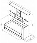 buymebel.ru ДЕЛЬТА-21.03 кровать с антресолью схема с размерами