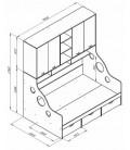 buymebel.ru ДЕЛЬТА-21.01 кровать с антресолью полуторка схема с размерами