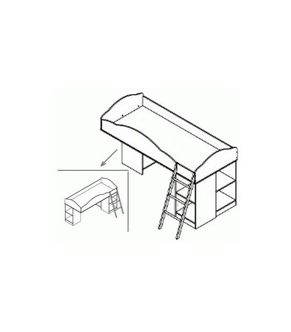 buymebel.ru кровать Дюймовочка-5 БАЗА с металлической лестницей