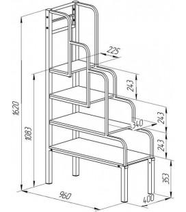 чертёж лестница для металлических кроватей