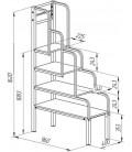 buymebel.ru чертёж лестница для металлических кроватей