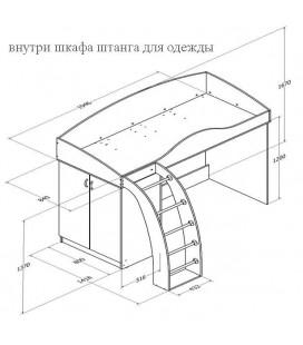 кровать Соня-1 схема с размерами