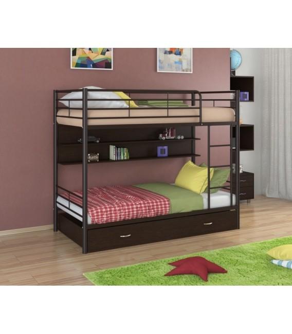 buymebel.ru двухъярусная кровать Севилья-3 ПЯ коричневый - венге