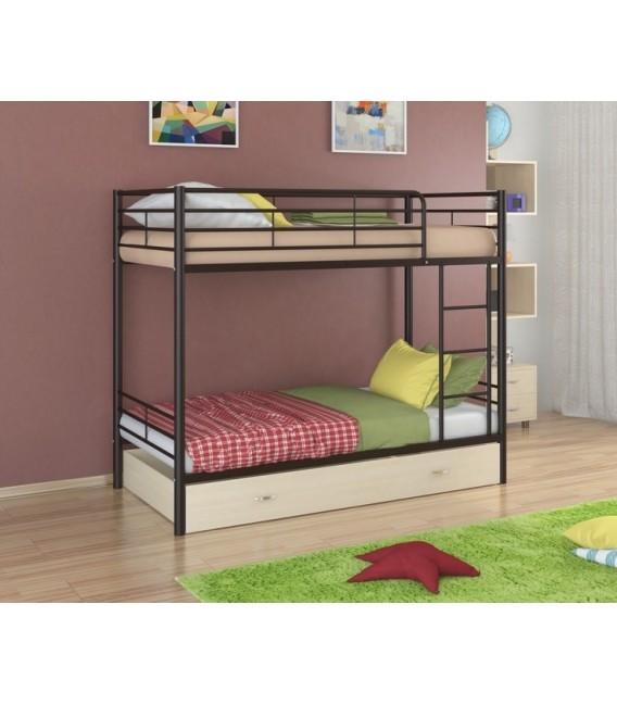 buymebel.ru двухъярусная кровать Севилья-3 Я коричневый - дуб молочный