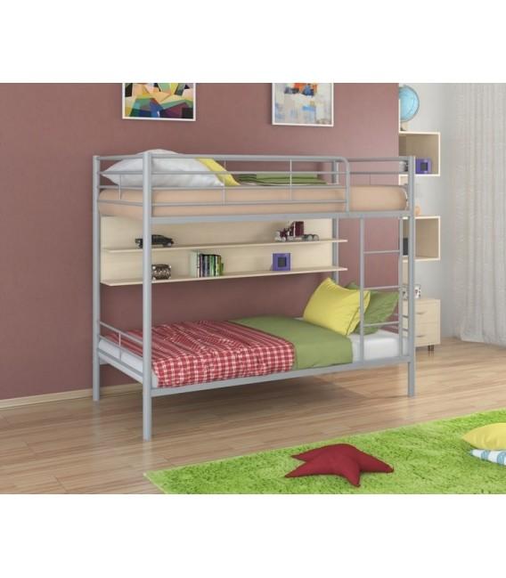 buymebel.ru двухъярусная кровать Севилья-3 П серый - дуб молочный