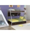 buymebel.ru двухъярусная кровать Гранада-2 ПЯ серый - венге