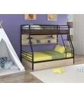 buymebel.ru двухъярусная кровать Гранада-2 ПЯ чёрный - дуб молочный