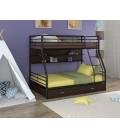 buymebel.ru двухъярусная кровать Гранада-2 ПЯ чёрный - венге