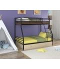 buymebel.ru двухъярусная кровать Гранада-2 Я чёрный - дуб молочный