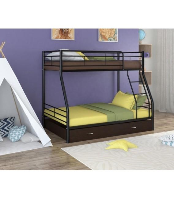 buymebel.ru двухъярусная кровать Гранада-2 Я чёрный - венге
