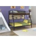 buymebel.ru двухъярусная кровать Гранада-2 П чёрный - дуб молочный