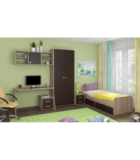 buymebel.ru детская комната Дельта №10 корпус дуб сонома, фасад венге