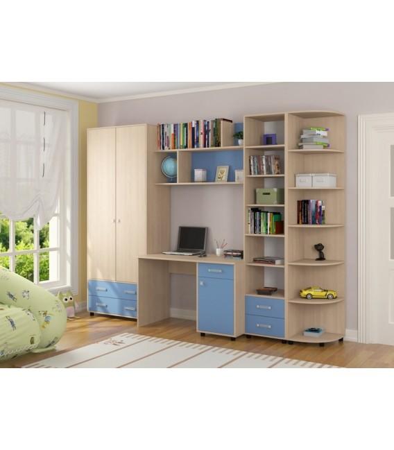 buymebel.ru детская комната Дельта №11 дуб молочный / голубой
