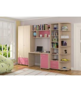 детская комната Дельта №11 дуб молочный / розовый