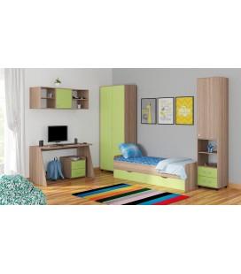 детская комната Дельта №13 дуб сонома / салатовый