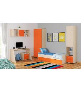 детская комната Дельта №13 дуб молочный / оранжевый