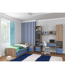 детская комната Дельта №14 дуб сонома / голубой