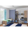 buymebel.ru детская комната Дельта №14 дуб сонома / голубой