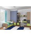 buymebel.ru детская комната Дельта №14 дуб сонома / салатовый