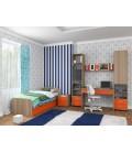 buymebel.ru детская комната Дельта №14 дуб сонома / оранжевый