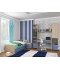 buymebel.ru детская комната Дельта №14 дуб молочный / голубой