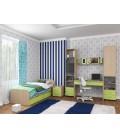 buymebel.ru детская комната Дельта №14 дуб молочный / салатовый