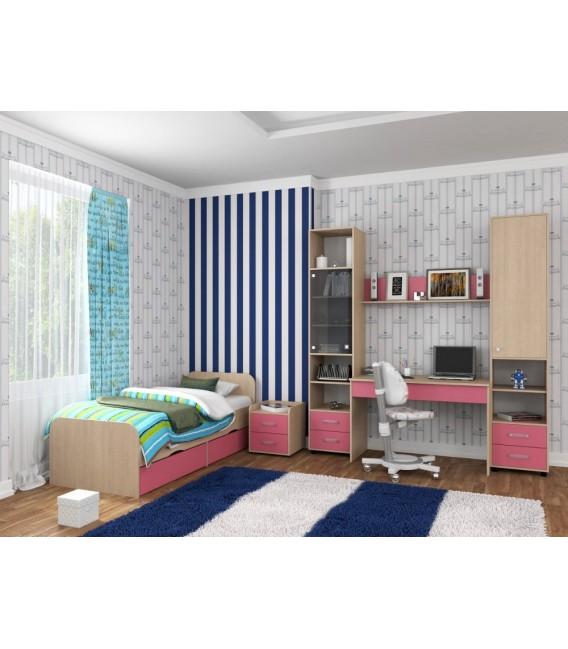 buymebel.ru детская комната Дельта №14 дуб молочный / розовый