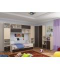 buymebel.ru детская комната Дельта №2 цвет дуб молочный / венге