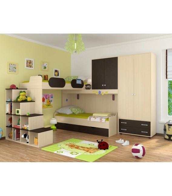 buymebel.ru детская комната Дельта №6 цвет дуб молочный / венге